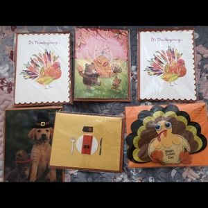 6 thanksgiving papyrus cards